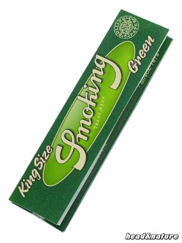 Smoking Green King Size Papers