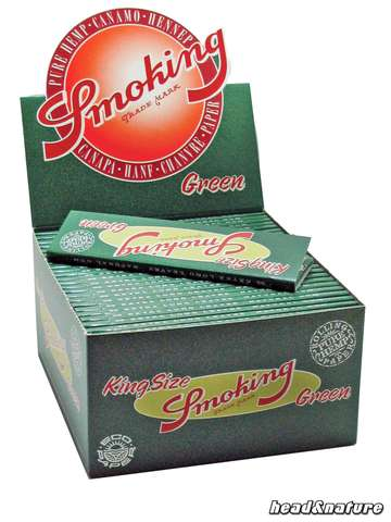 Smoking Green King Size Papers - 50 x