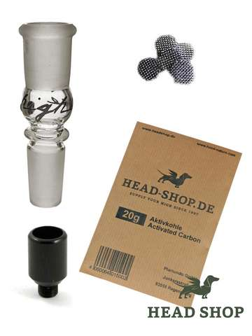 Acrylic bong activated charcoal set