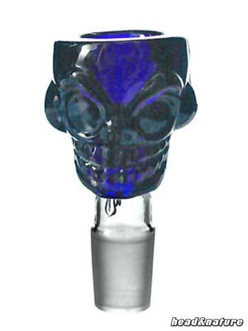 Weedstar Glass Bowl Skull 18,8 blue