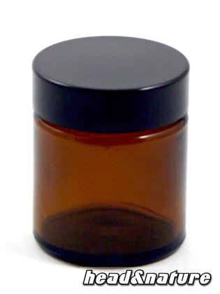 Small brown pharmacy jar with plastic cap, 30ml