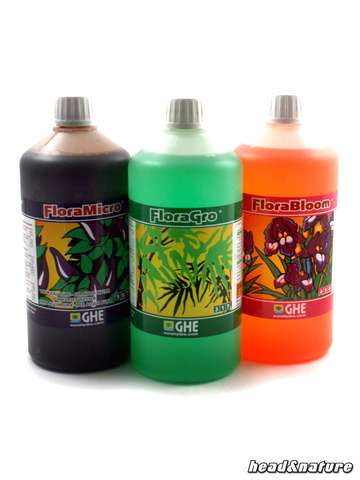 GHE Flora Set, 3 x 1 Liter soft water
