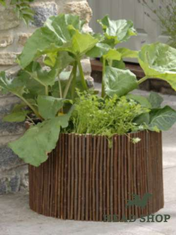 Round Vegetable Planter Natural Willow
