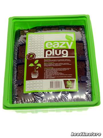 Eazy Plug Cutting Tray (12 pcs) with greenhouse