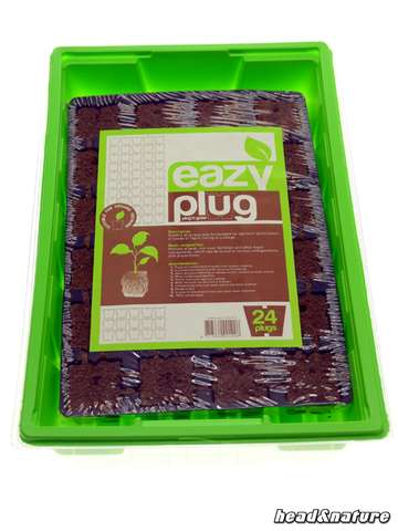 Eazy Plug Cuttings Tray (24 pcs) with greenhouse