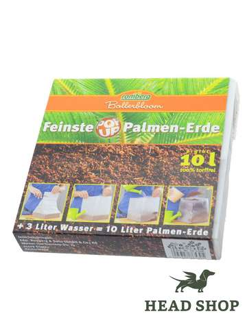 PopUp Soil for Palms & Foliage, 10 liter pack, compressed