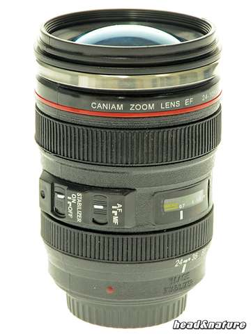 Stash with photographic lens design