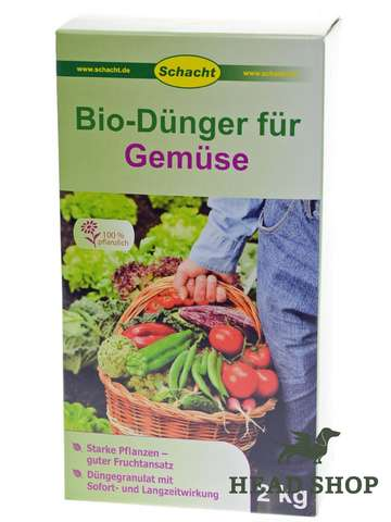 Organic fertiliser for vegetables, 2 kg