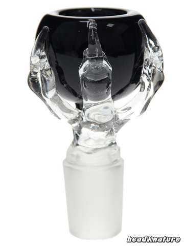 Glass bowl with claw 18.8 black