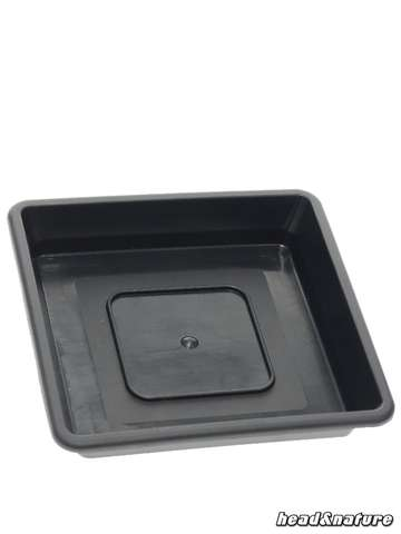 HQ Square Plant Saucer, 12 x 12 cm, black