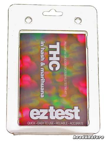 eztest Tube for THC in Hashish and Marihuana
