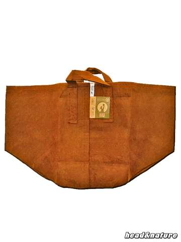 Root Pouch Boxer brown with handle - 250 g/m² -  56 L