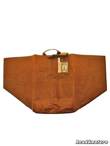 Root Pouch Boxer brown with handle - 250 g/m² - 78 L