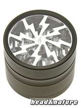 Thorinder grinder with window black / silver Mini #0