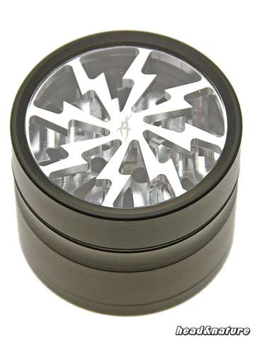 Thorinder grinder with window black / silver Mini
