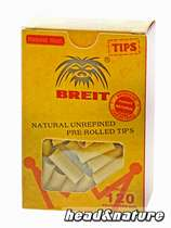 Breit prerolled unbleached filter tips #0