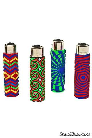 Clipper lighter with silicone cover - Geometric
