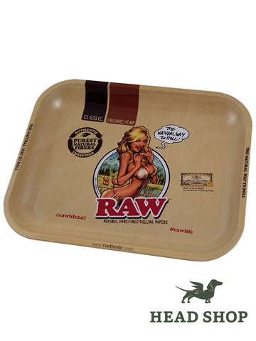 Raw Rolling Tray Girl Medium