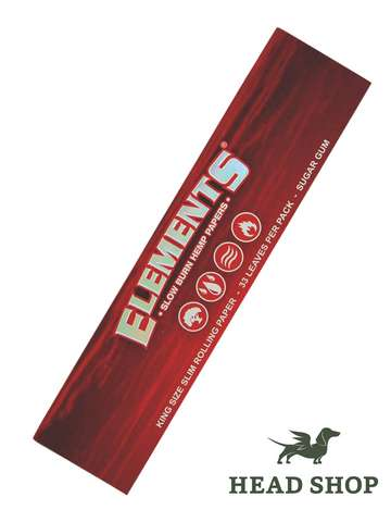 Elements RED Kingsize Slim Hemp Papers