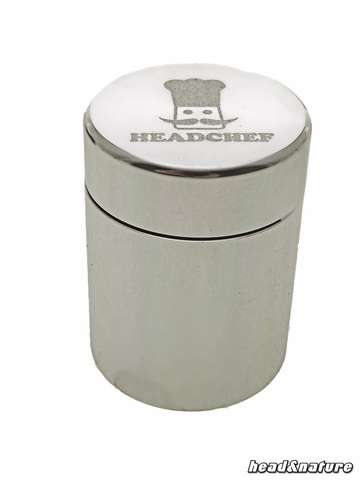 Headchef Metal Storage Can Silver Big