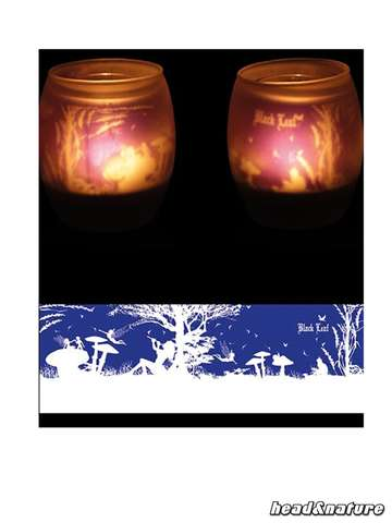 "Black Leaf Tealights ""Fairy"""