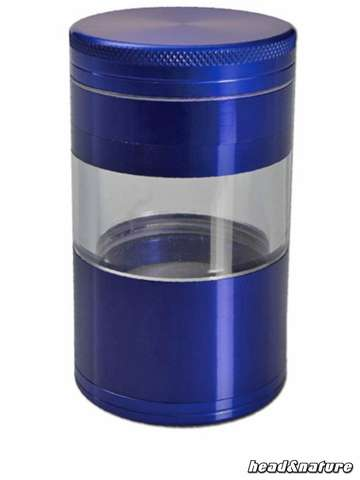 Magentic 5-part Aluminium Sieve Grinder blue