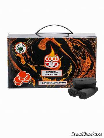 CoCo DUD Hexagon Shisha carbon 216 pieces