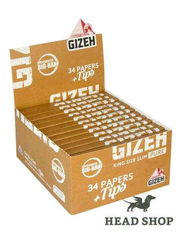 Gizeh Pure King Size Slim + Tips - x26