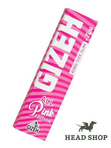 Gizeh King Size Slim+Tips PINK Limited Editon