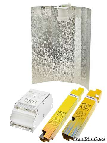 HPS/MH Kit 400W ETI Stucco hammered Growth & Bloom